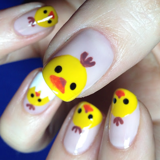 Barbie Nail Art Games Free Download: 12 Lovely Baby Chick Nail Designs