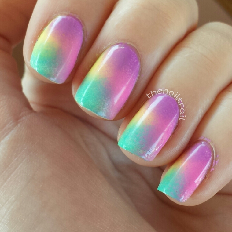 Easy Nail Art With Makeup Sponge: . . .
