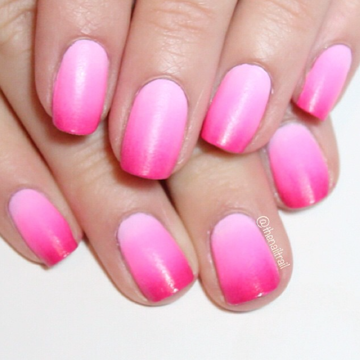 Image result for light and dark pink combination in nail art